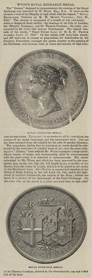Wyon's Royal Exchange Medal--Giclee Print
