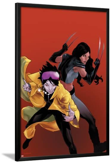 X-23 No.20 Cover: Jubilee and X-23-Kalman Andrasofszky-Lamina Framed Poster