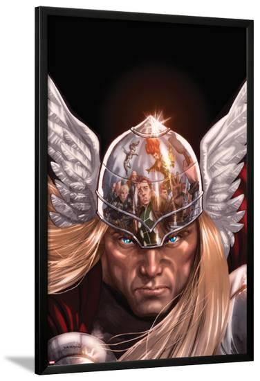 X-Factor No.212 Cover: Thor Posing-David Yardin-Lamina Framed Poster