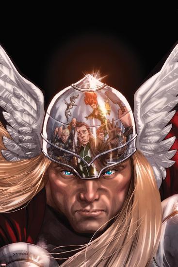 X-Factor No.212 Cover: Thor Posing-David Yardin-Art Print