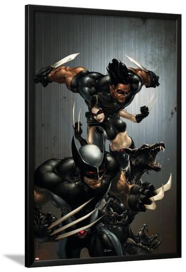 X-Force No.1 Cover: Wolverine, X-23, Wolfsbane and Warpath-Clayton Crain-Lamina Framed Poster