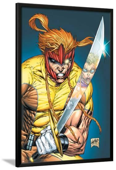 X-Force No.2 Cover: Shatterstar-Rob Liefeld-Lamina Framed Poster