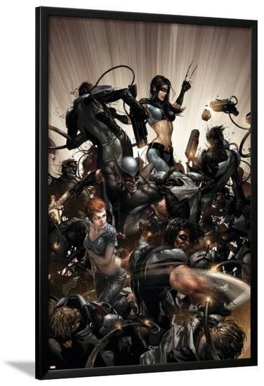 X-Force No.2 Cover: X-23, Warpath and Wolverine-Clayton Crain-Lamina Framed Poster