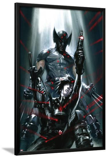 X-Force: Sex and Violence No.3 Cover: Domino and Wolverine Posing-Gabriele DellOtto-Lamina Framed Poster