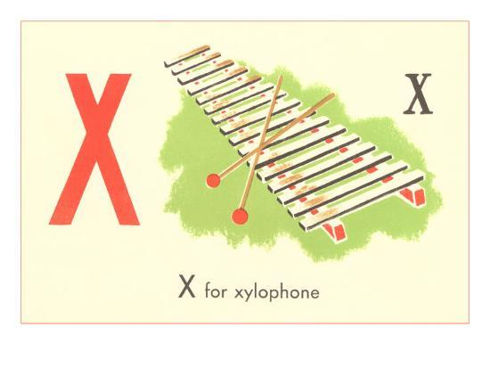 X is for Xylophone--Art Print