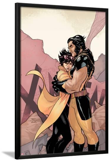 X-Men #4 Cover: Jubilee, Wolverine-Terry Dodson-Lamina Framed Poster