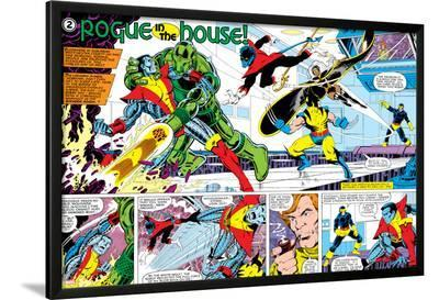 X-Men Annual No.3 Group: Colossus, Nightcrawler, Wolverine, Storm, Cyclops and X-Men-George Perez-Lamina Framed Poster