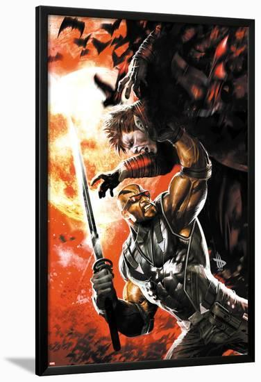 X-Men: Curse of The Mutants - Blade No.1 Cover: Blade Fighting with a Sword-Dave Wilkins-Lamina Framed Poster