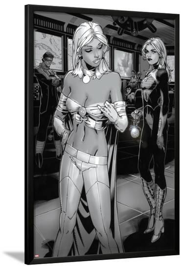 X-Men: Curse of The Mutants - Storm & Gambit No.1: Emma Frost and Dazzler-Chris Bachalo-Lamina Framed Poster