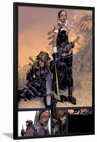 X-Men: Curse of The Mutants - Storm & Gambit No.1: Storm and Gambit-Chris Bachalo-Lamina Framed Poster