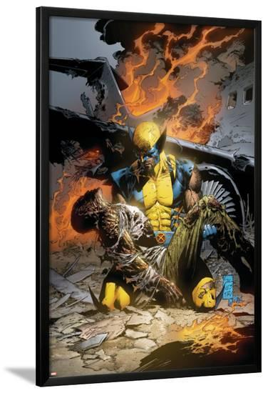 X-Men Deadly Genesis No.3 Cover: Wolverine Fighting-Trevor Hairsine-Lamina Framed Poster