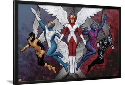 X-Men Evolutions No.1: Archangel-John Tyler Christopher-Lamina Framed Poster