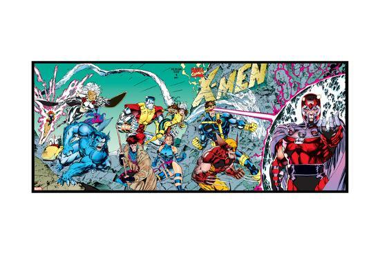 X-Men Forever Alpha No. 1: X-Men No. 1: Beast, Storm, Gambit, Psylocke, Colossus, Rogue, Wolverine--Art Print