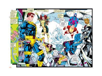 X-Men Forever Alpha No. 1: X-Men No. 1: Cyclops, Rogue, Storm, Archangel, Colossus, Iceman--Art Print