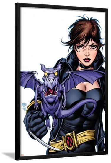 X-Men Forever No.4 Cover: Pryde and Kitty Fighting-Tom Grummett-Lamina Framed Poster