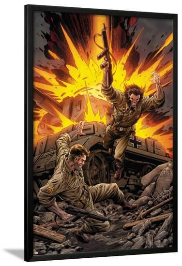 X-Men Forever No.7 Cover: Wolverine and Nick Fury-Tom Grummett-Lamina Framed Poster
