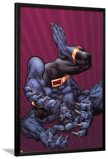 X-Men Forever No.9 Cover: Beast-Tom Grummett-Lamina Framed Poster