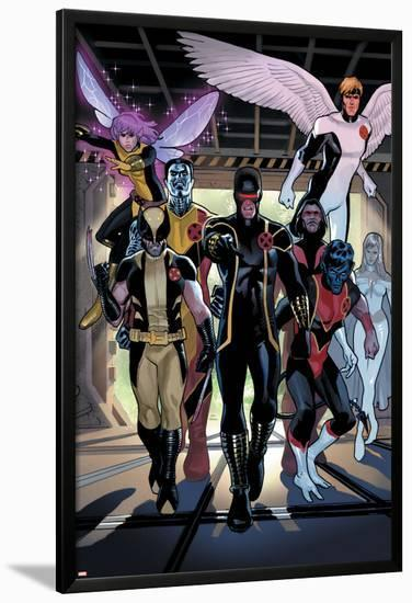 X-Men Legacy Annual No.1 Group: Cyclops, Wolverine, Nightcrawler and Angel-Daniel Acuna-Lamina Framed Poster