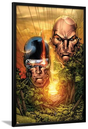 X-Men: Legacy No.215 Cover: Cyclops, Xavier and Charles-Ken Lashley-Lamina Framed Poster