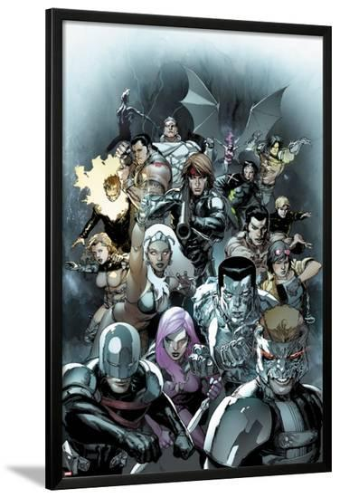 X-Men Legacy No.245 Cover: Cyclops, Avalanche, Angel, Colossus, Storm, and Gambit-Leinil Francis Yu-Lamina Framed Poster