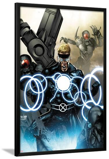 X-Men Legacy No.257 Cover: Havok Screaming-Mico Suayan-Lamina Framed Poster