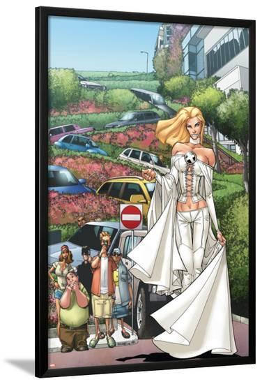 X-Men: Manifest Destiny No.2 Cover: Emma Frost-Humberto Ramos-Lamina Framed Poster