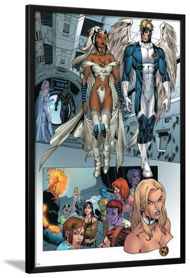 X-Men: Manifest Destiny No.2 Group: Storm, Angel and Emma Frost-Michael Ryan-Lamina Framed Poster