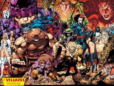 X-Men No.1: 20th Anniversary Edition: A Villains Gallery-Jim Lee-Art Print