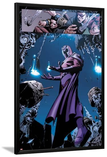 X-Men No.13: Panels with Storm and Magneto-Paco Medina-Lamina Framed Poster