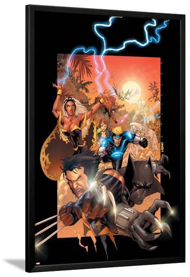 X-Men No.175 Cover: Wolverine, Storm, Black Panther, Havok, Iceman and X-Men-Salvador Larroca-Lamina Framed Poster