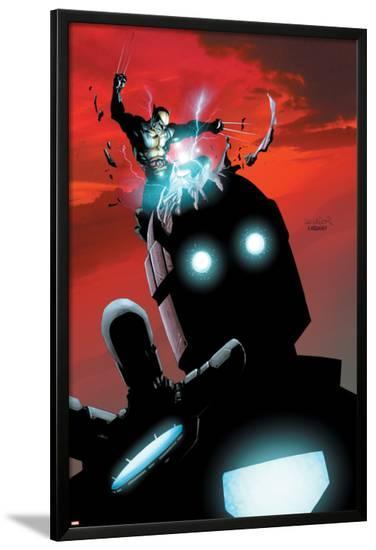 X-Men No.178 Cover: Wolverine and Sentinel-Salvador Larroca-Lamina Framed Poster