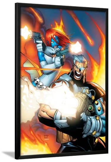 X-Men No.196 Cover: Mystique and Cable-Humberto Ramos-Lamina Framed Poster