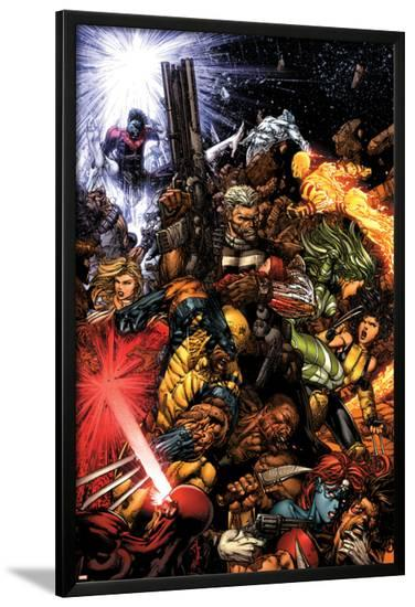 X-Men No.207 Cover: Wolverine and Cable-David Finch-Lamina Framed Poster