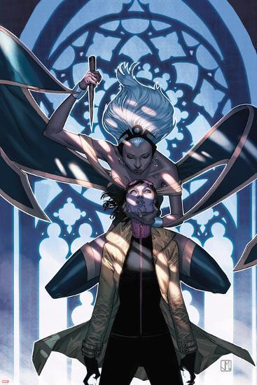 X-Men No.25 Cover: Storm and Jubilee-Jorge Molina-Art Print