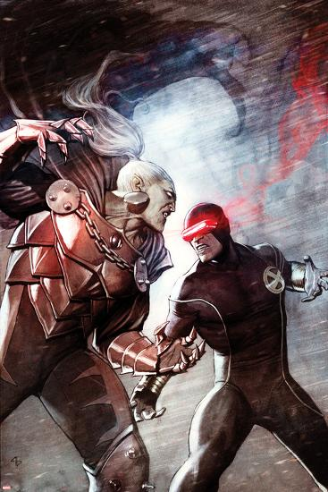 X-Men No.6 Cover: Cyclops and Dracula Fighting-Adi Granov-Art Print