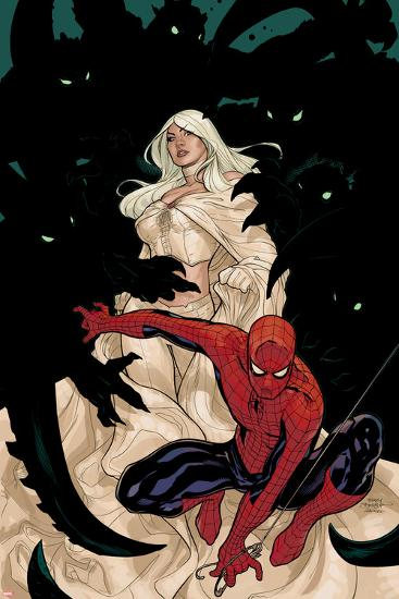 X-Men No.8 Cover: Spider-Man and Emma Frost-Terry Dodson-Art Print