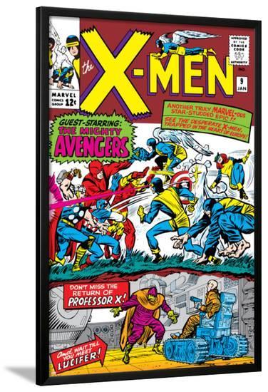 X-Men No.9 Cover: Lucifer-Jack Kirby-Lamina Framed Poster
