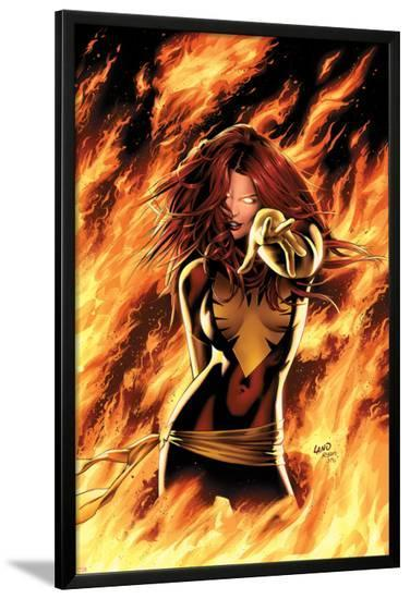 X-Men: Phoenix - Endsong No.1 Cover: Phoenix, Grey and Jean-Greg Land-Lamina Framed Poster