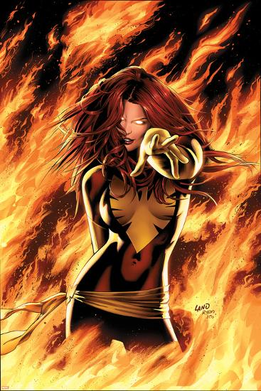 X-Men: Phoenix - Endsong No.1 Cover: Phoenix, Grey and Jean-Greg Land-Art Print