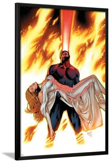 X-Men: Phoenix - Endsong No.4 Cover: Cyclops and Emma Frost-Greg Land-Lamina Framed Poster