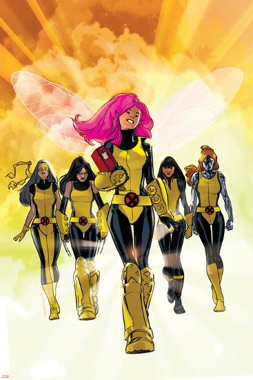 X-Men: Pixie Strikes Back No.1 Cover: Pixie, X-23, Blindfold, Armor and Mercury-Stuart Immonen-Art Print
