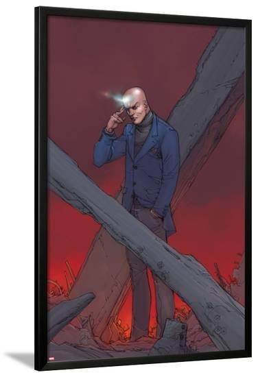 X-Men: Prelude to Schism No.1 Cover: Professor X Using Telepathy-Giuseppe Camuncoli-Lamina Framed Poster
