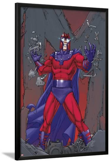 X-Men: Prelude to Schism No.2 Cover: Magneto Standing-Giuseppe Camuncoli-Lamina Framed Poster
