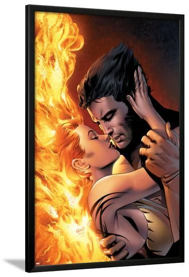 X-Men: The End No.1 Cover: Wolverine and Phoenix Fighting-Sean Chen-Lamina Framed Poster
