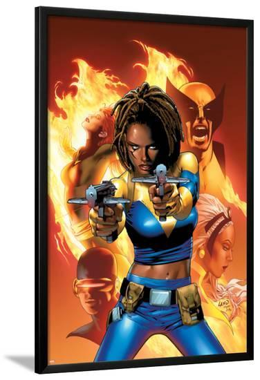 X-Men: The End No.2 Cover: Bishop, Aliyah, Wolverine, Storm and Cyclops--Lamina Framed Poster