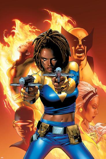 X-Men: The End No.2 Cover: Bishop, Aliyah, Wolverine, Storm and Cyclops--Art Print