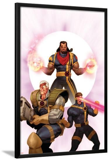X-Men: The Times and Life of Lucas Bishop No.3 Cover: Cable, Cyclops and Bishop-Ariel Olivetti-Lamina Framed Poster
