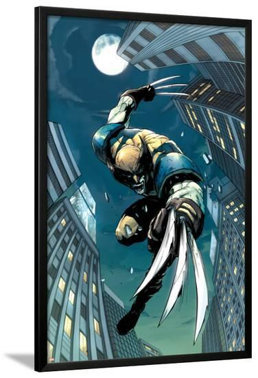 X-Men Unlimited No.5 Cover: Wolverine Fighting-Pat Lee-Lamina Framed Poster