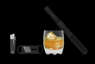 X-ray of Whiskey And Cigar--Photographic Print