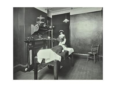 X-Ray Room, Fulham School Treatment Centre, London, 1914--Photographic Print
